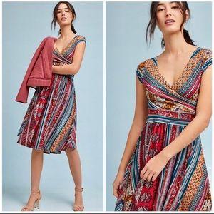 🦄 Anthropologie Maeve Tamera Surplice Dress